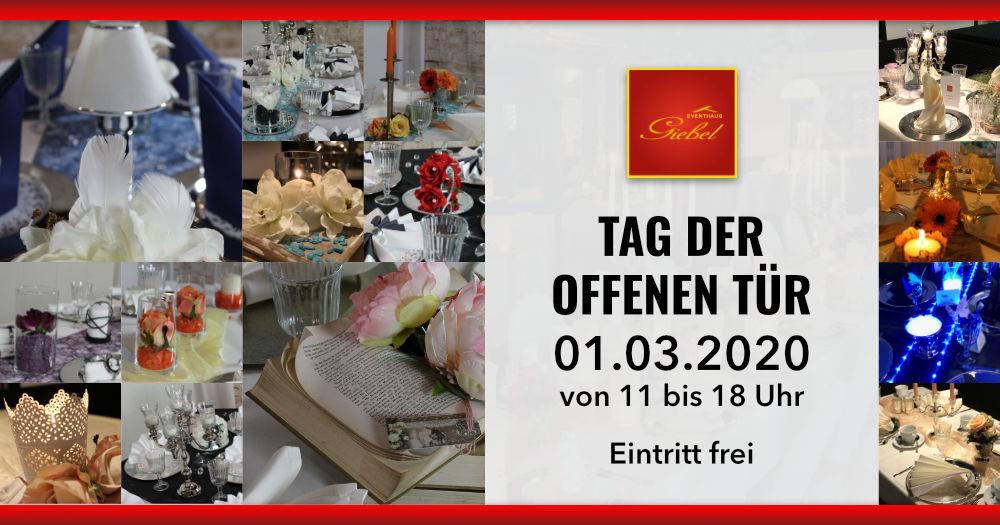 Eventhaus Giebel, Tag der offenen Tür, 01.03.2020 von 11 bis 18 Uhr